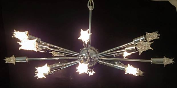 Vintage Sputnik 18 Light Chandelier