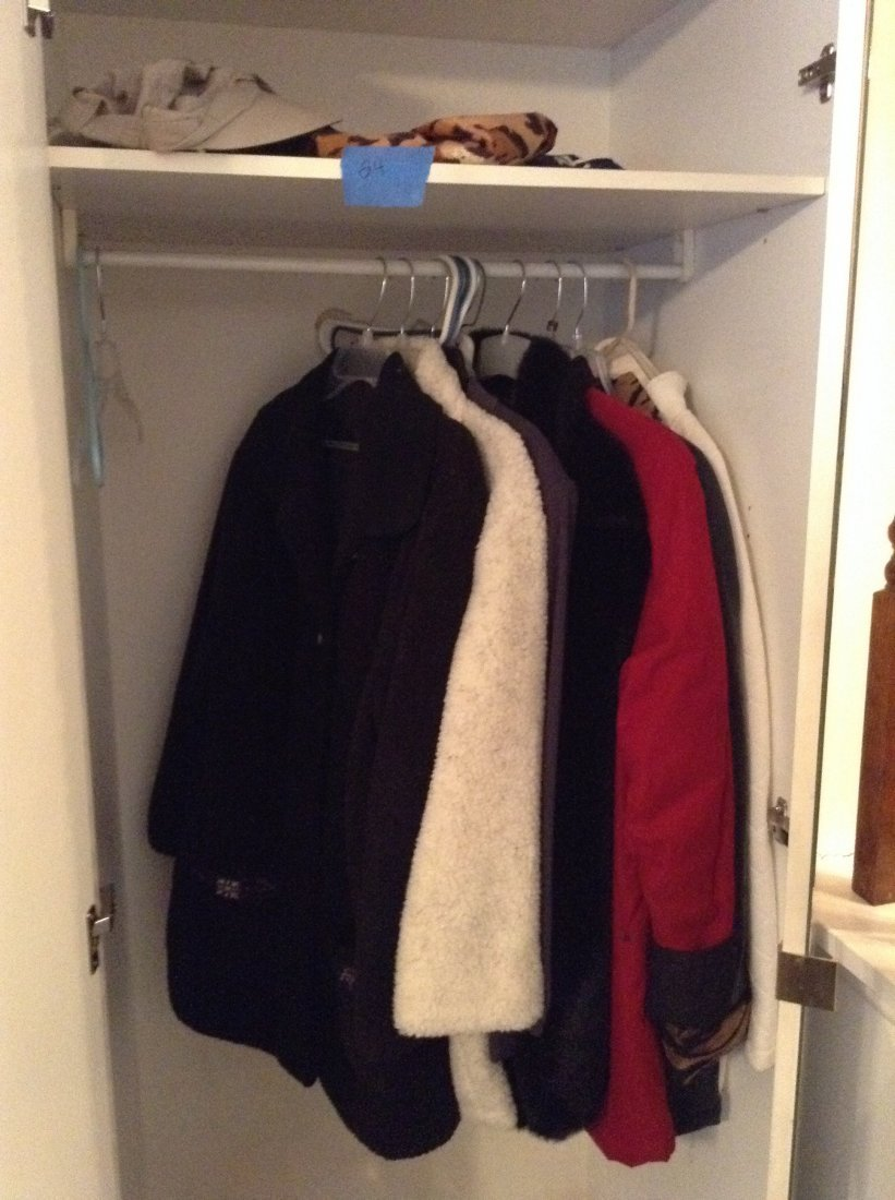 Contents of mirrored closet