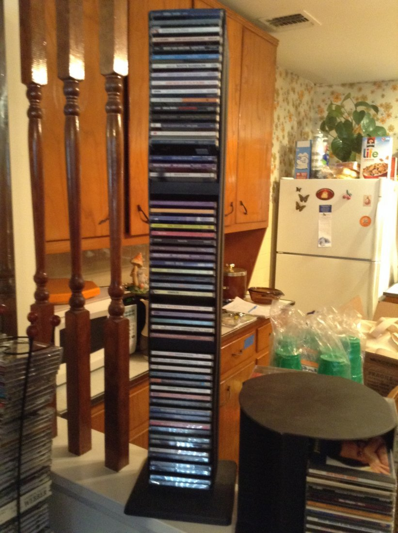 2 racks of CDs