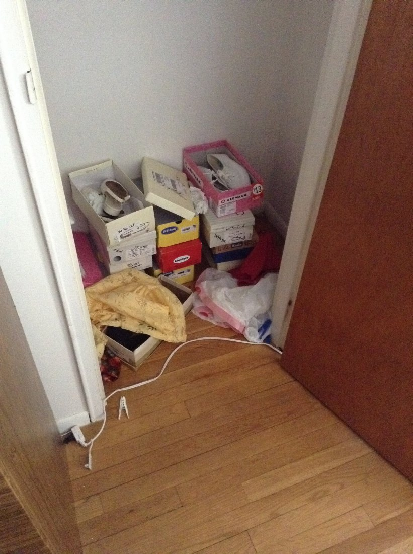 contents of bedroom closet