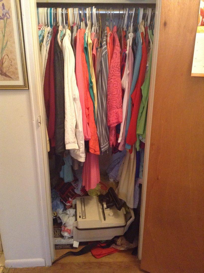 Contents of front hallway closet - 2
