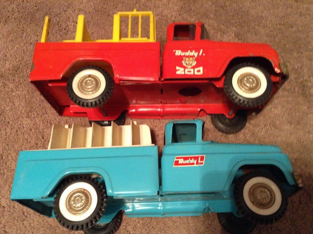 Two Buddy L Pressed Steel Trucks
