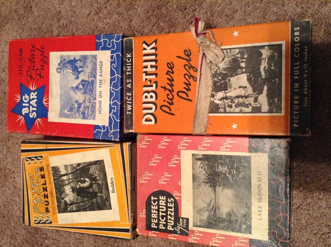 Vintage Lot of 13 Early Puzzles