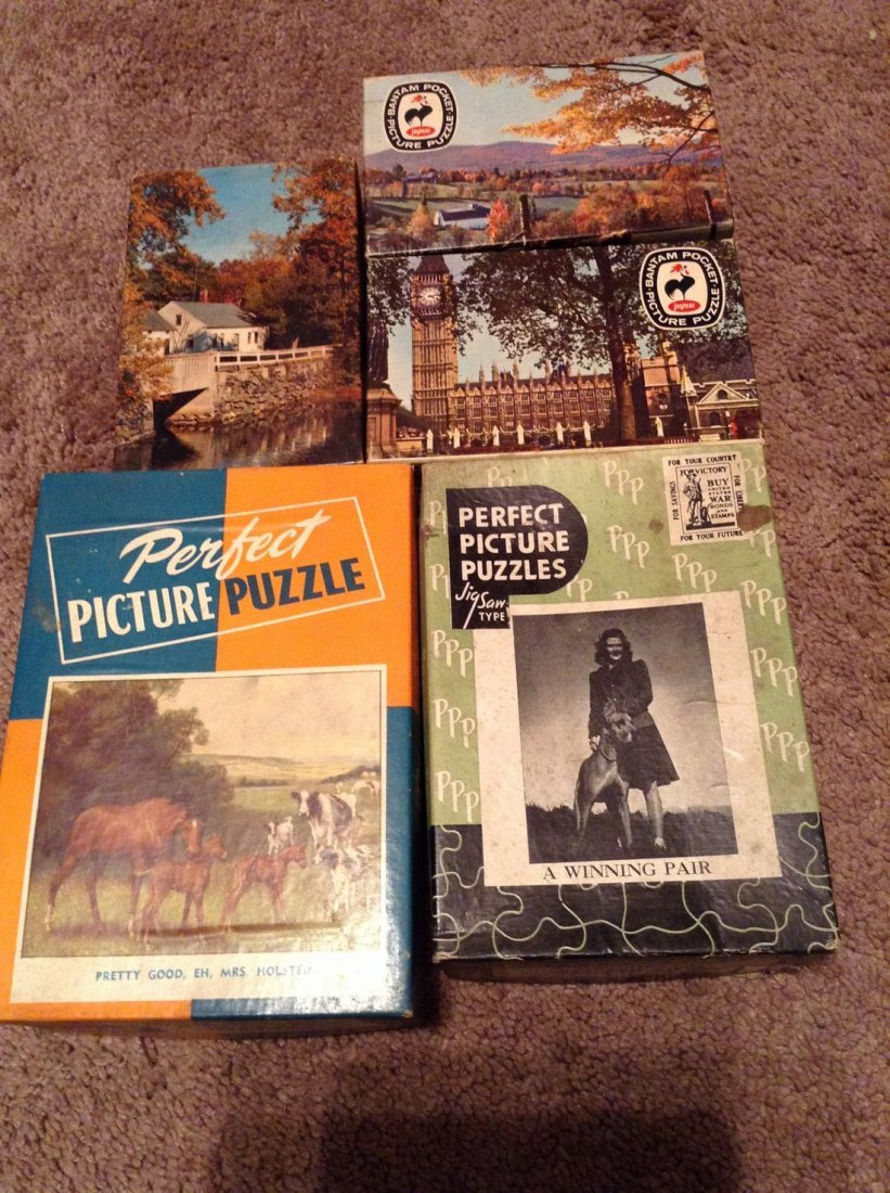 Vintage Lot of 13 Early Puzzles - 3