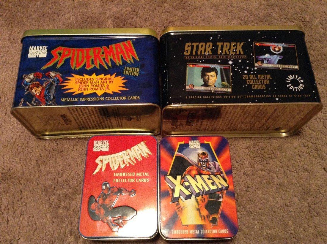 X-Men/ Star Trek/Spiderman Metal Collector Cards
