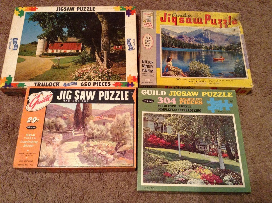 Vintage Lot of 10 Puzzles