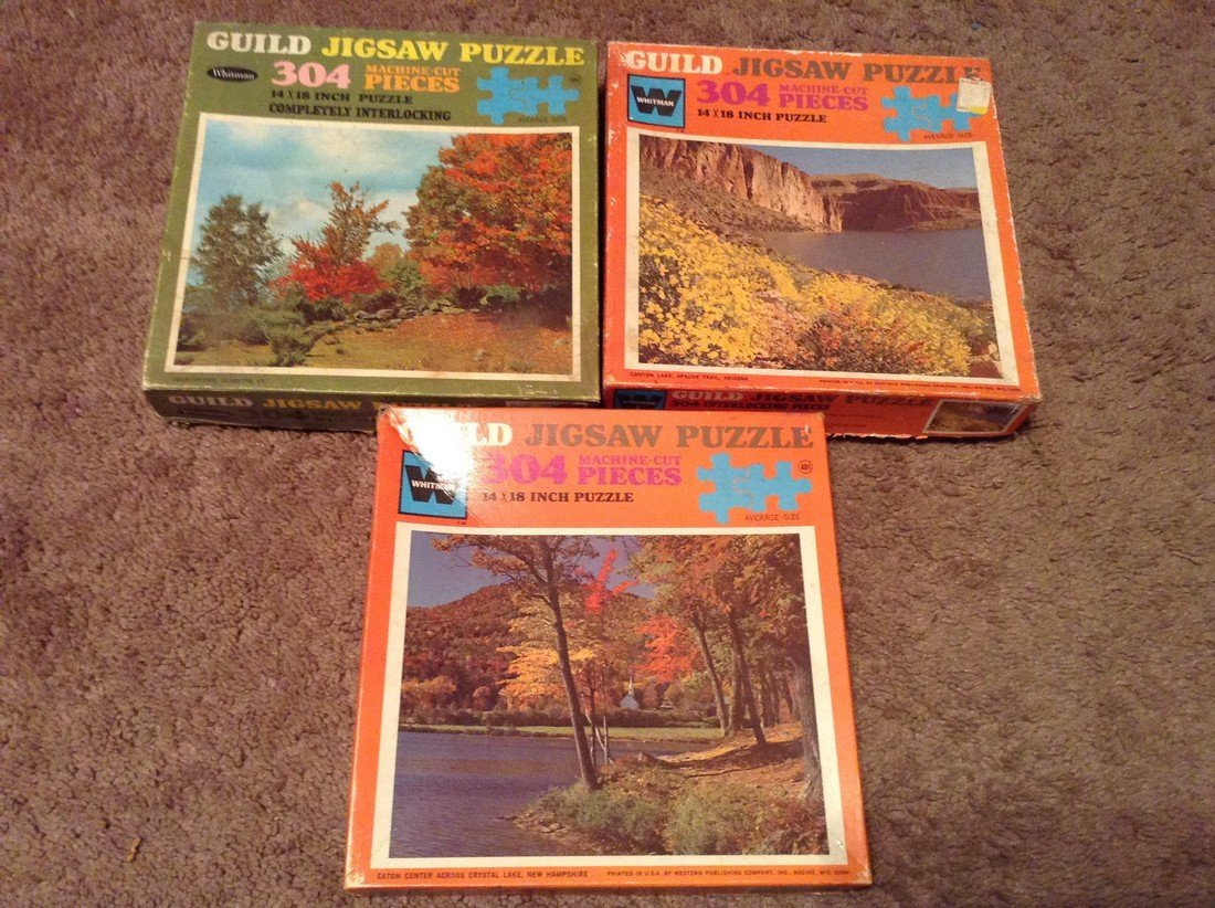 Vintage Lot of 10 Puzzles - 2