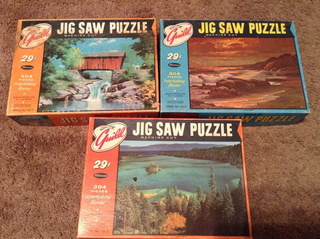 Vintage Lot of 10 Puzzles - 3