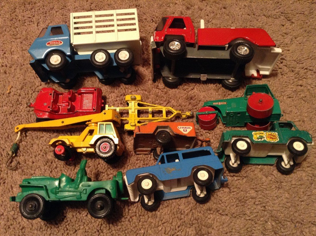 Vintage Tonka and Tooise and Topper Vehicles