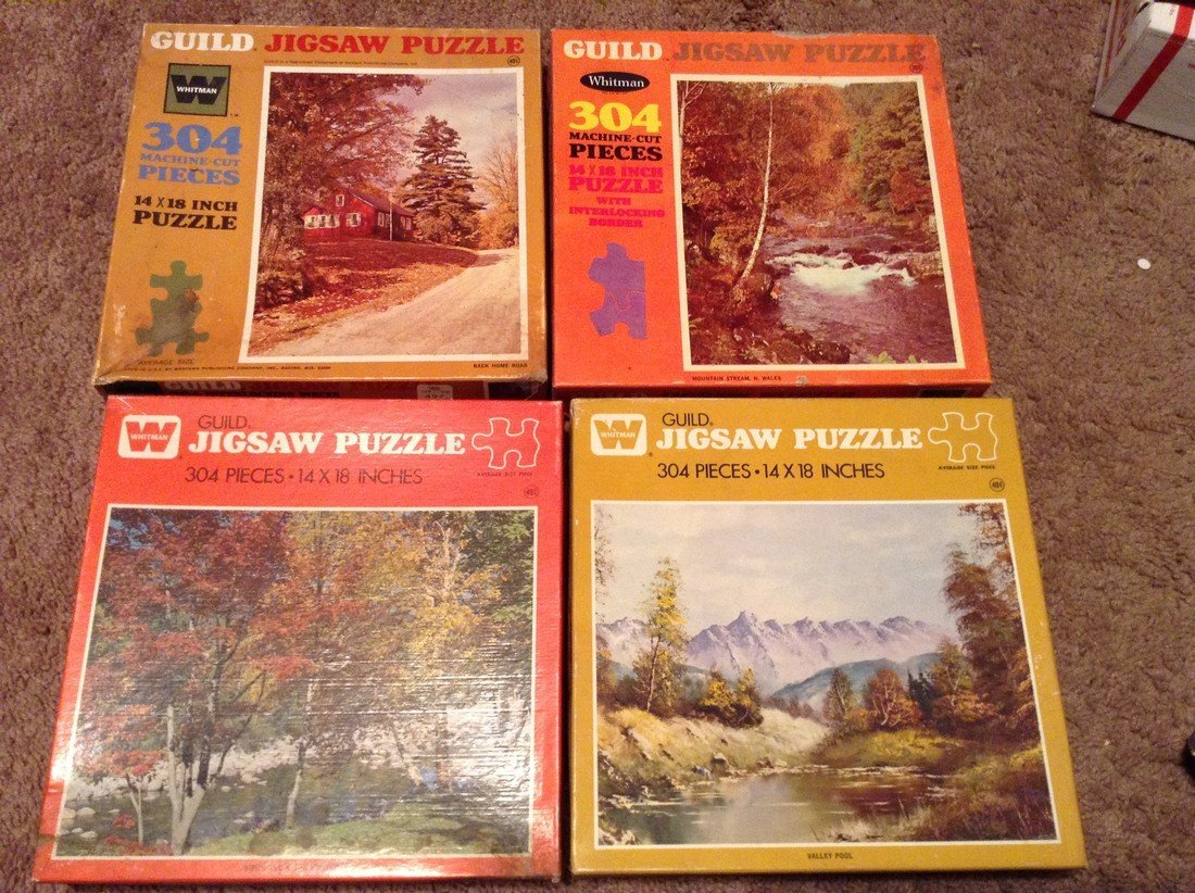 Vintage Lot of 10 Early Puzzles