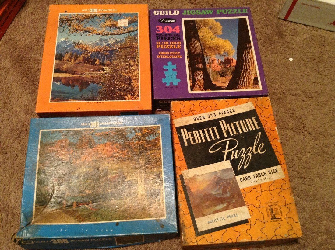 Vintage Lot of 10 Early Puzzles - 2