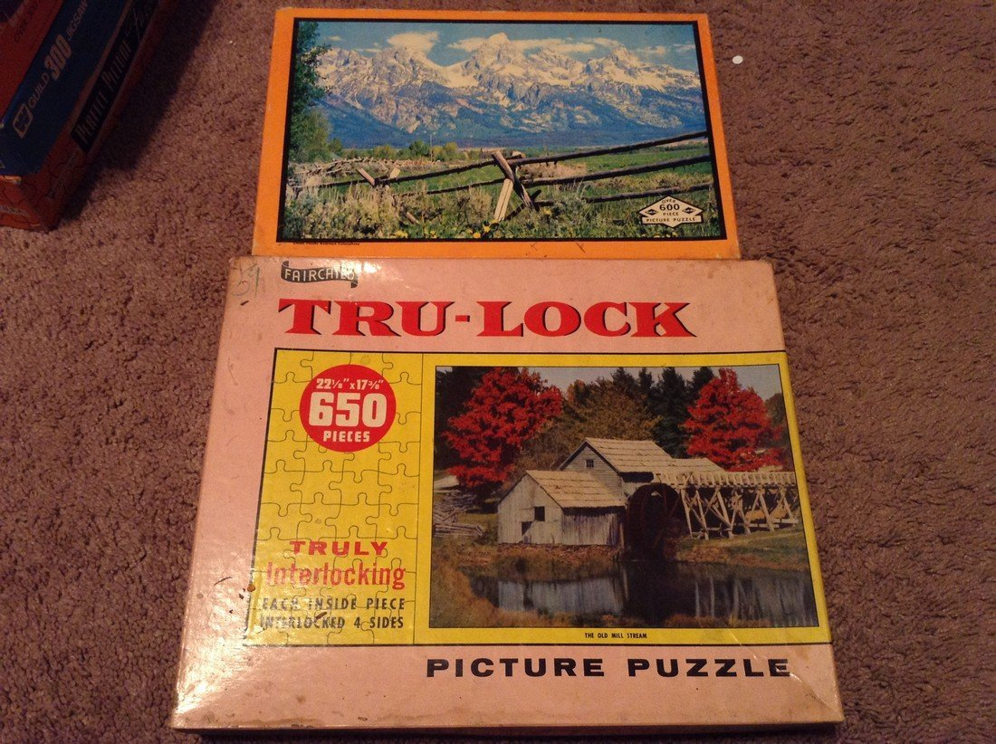 Vintage Lot of 10 Early Puzzles - 3