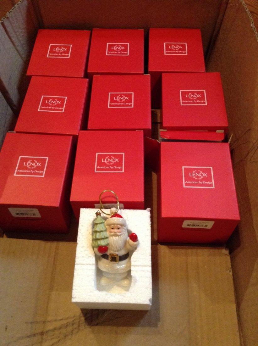 lot of 9 Lenox Christmas Ornaments