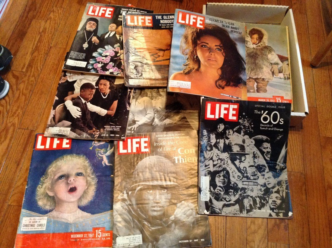 Lot of 1940s & 50s Life Magazines