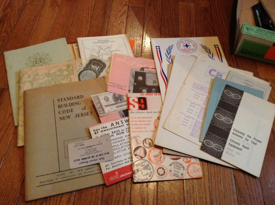 Vintage political radio items, manuals and labor books