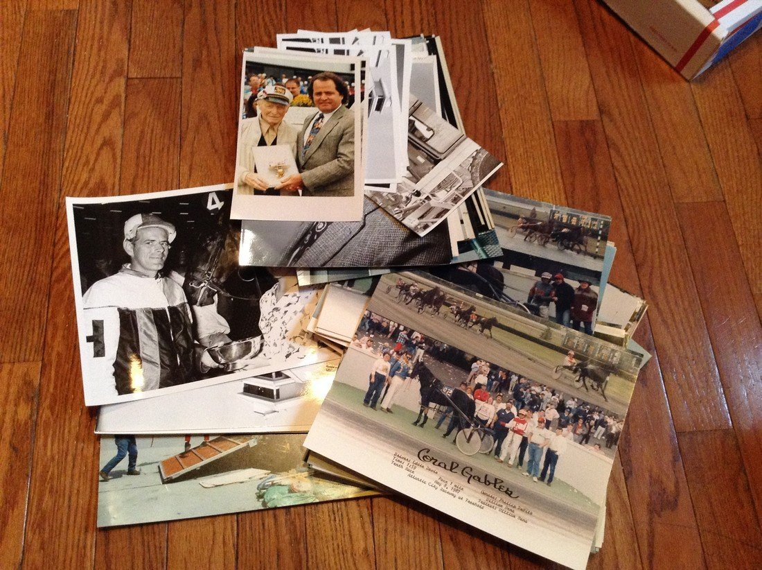 Large amount Early Black & White and Color Horse Racing