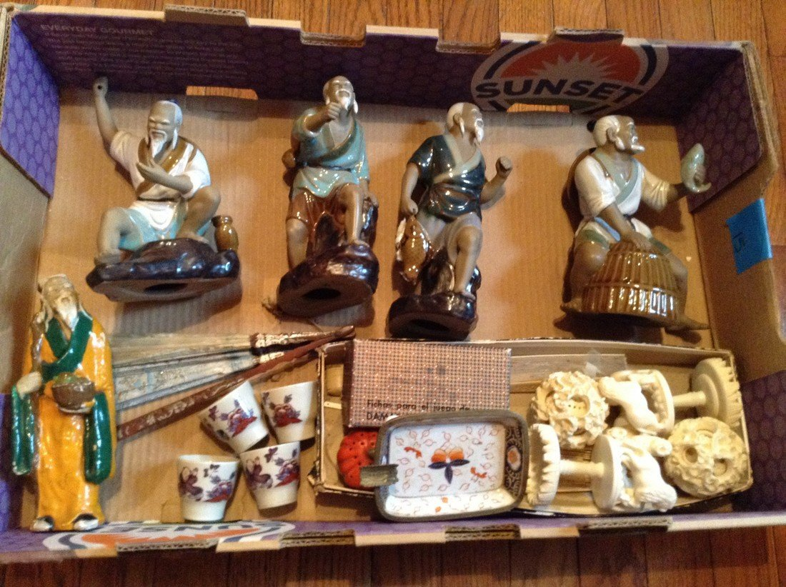 large amount of porcelain and ceramic oriental items