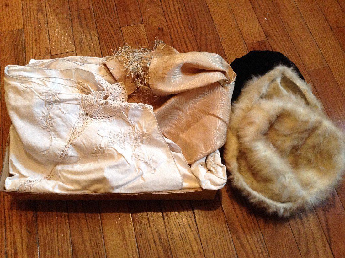 Vintage Linens and Woman's hats