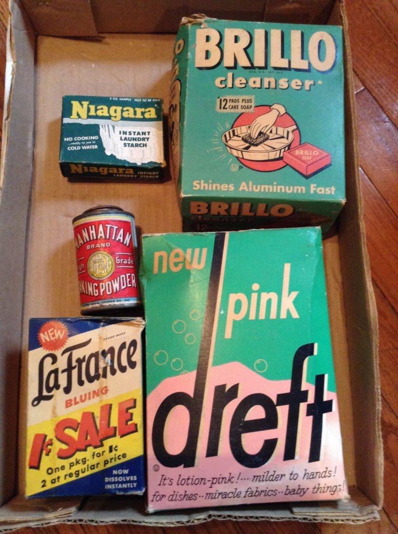 Vintage Soap and tin advertising box full