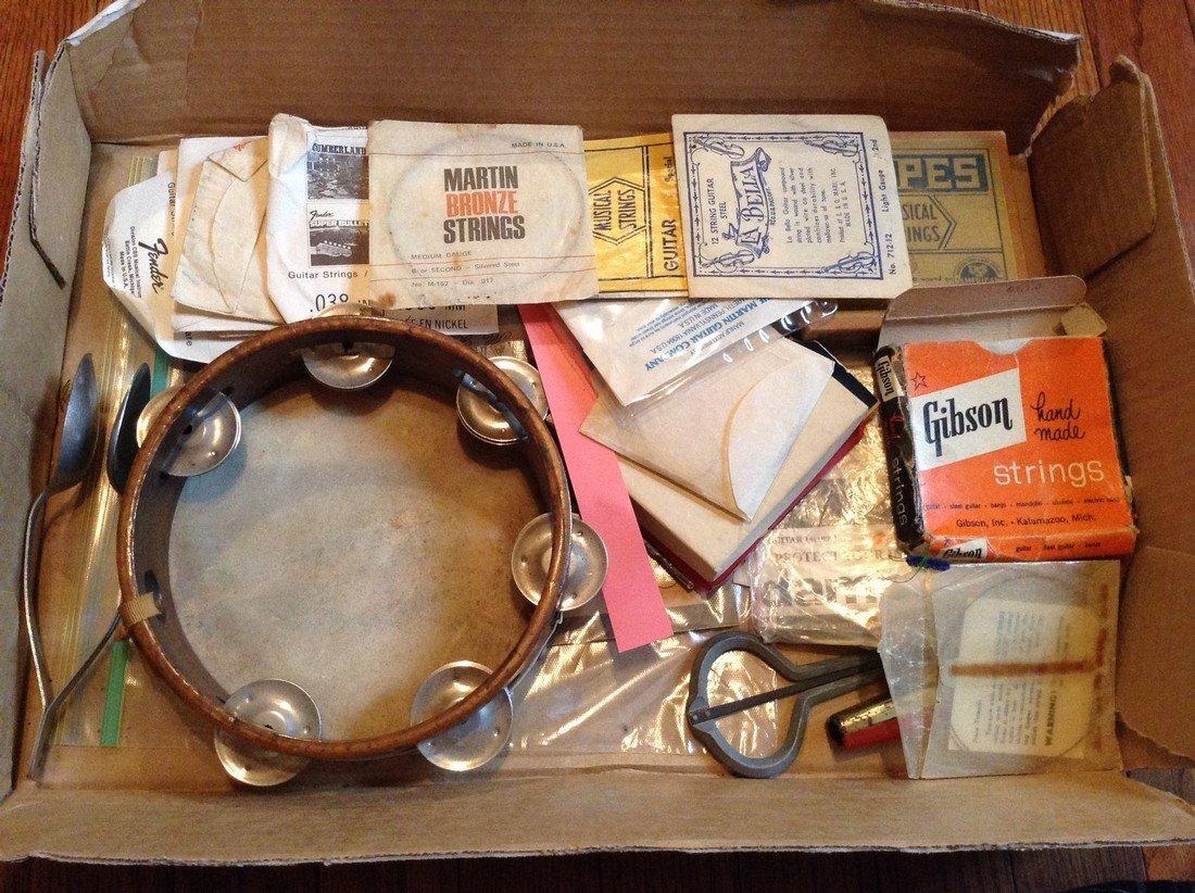 Vintage fender strings and vintage musical instruments