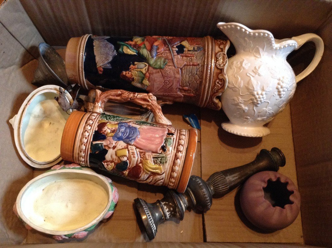 Beer Steins and other glass ware