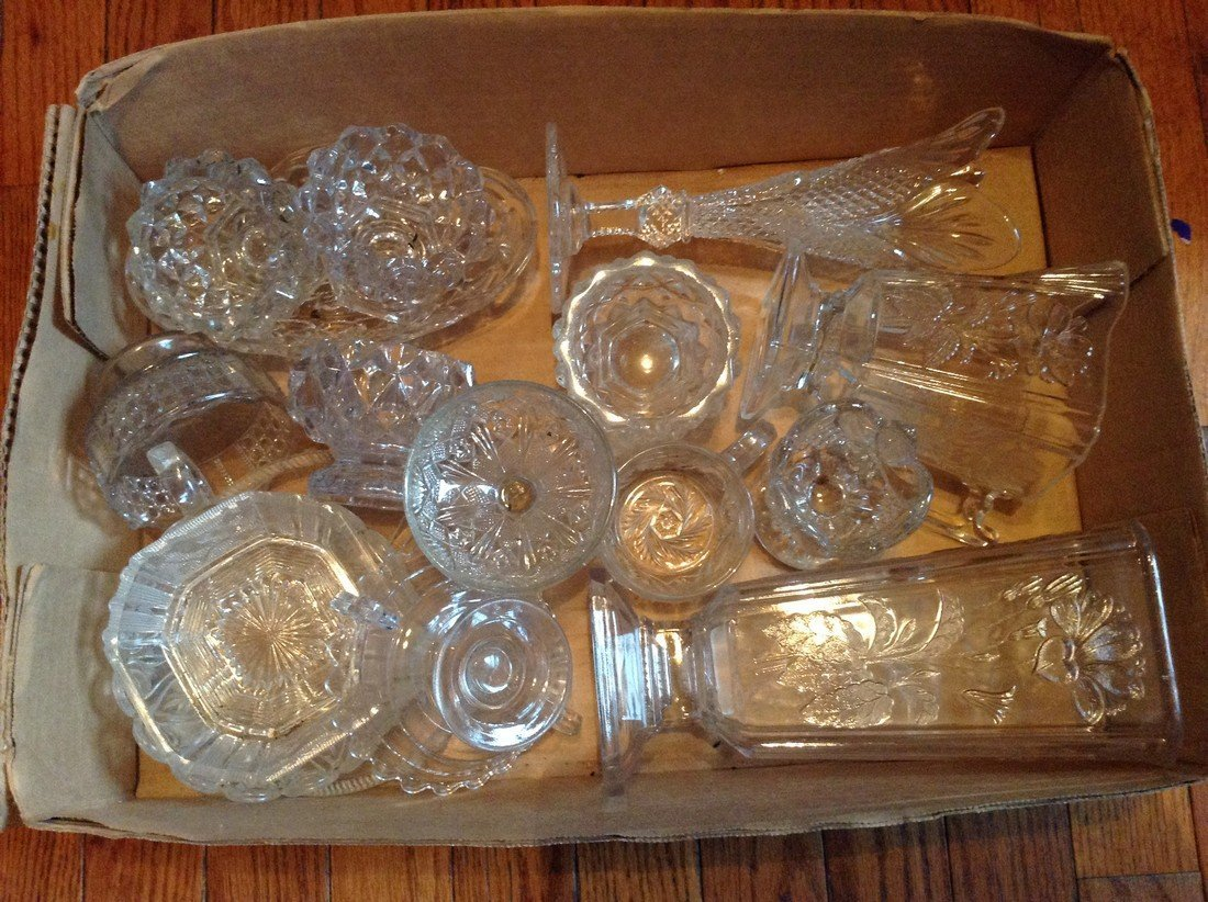 1800s early 1900s glass ware large amount