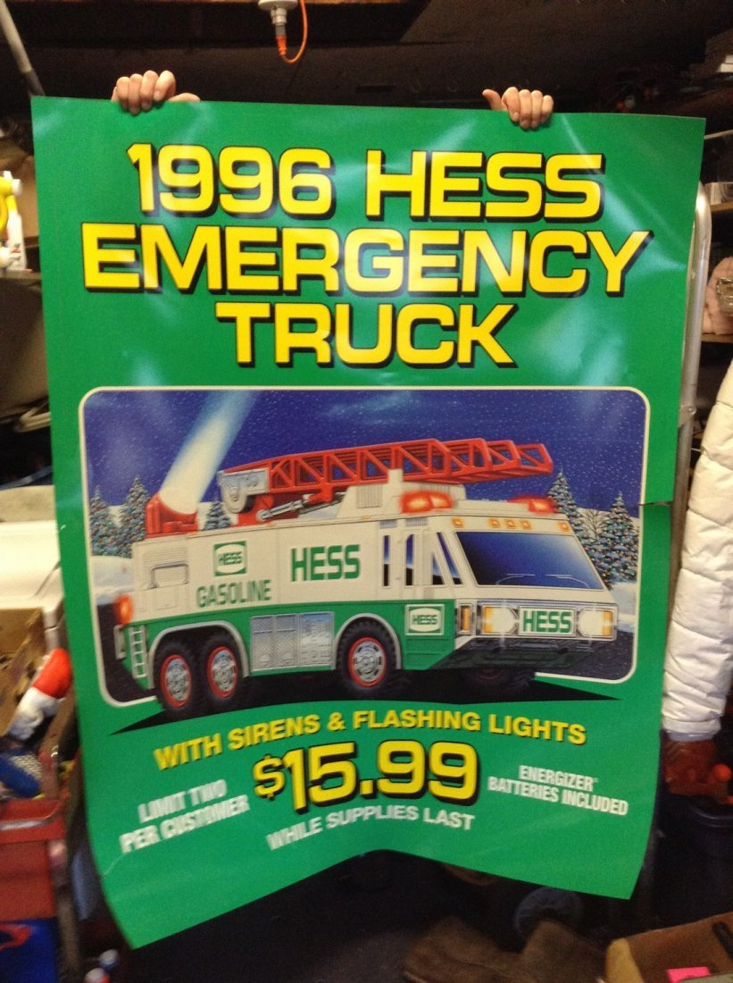Vintage large Hess truck posters