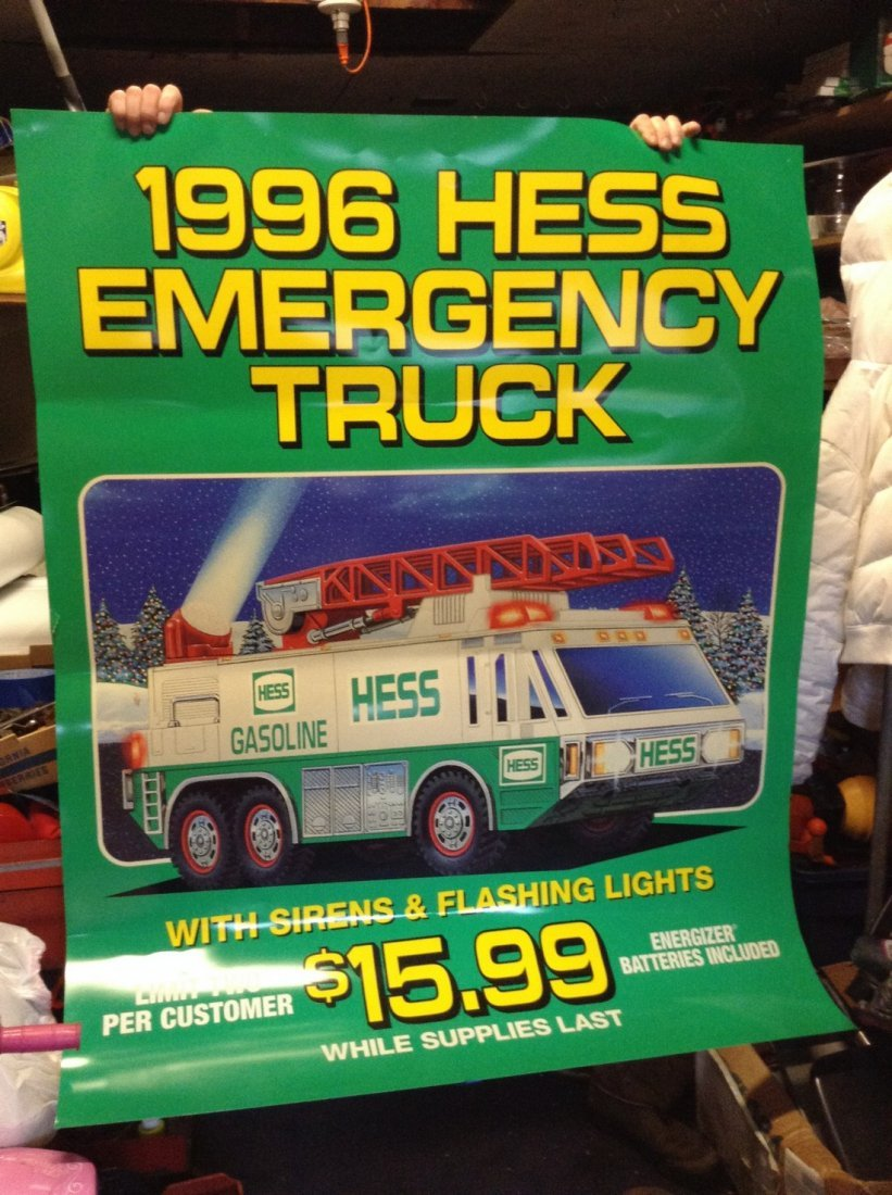 Vintage large Hess truck posters - 2