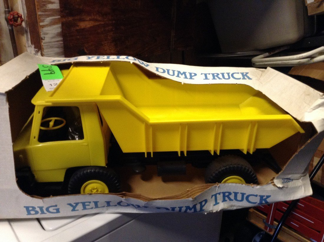 Vintage Big Yellow Dump Truck