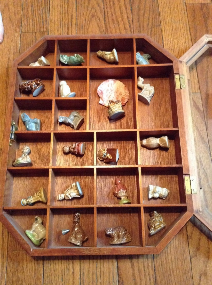 Wade animal figures and others with display case - 2