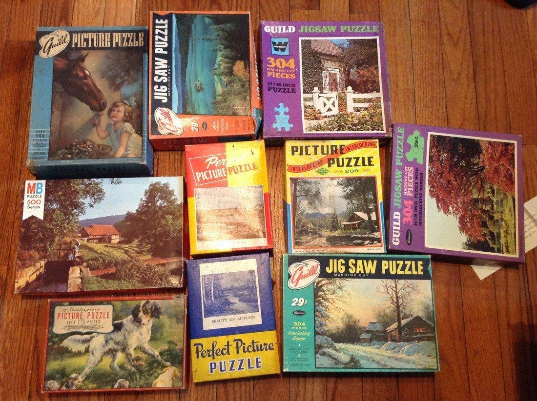huge amount of vintage puzzles