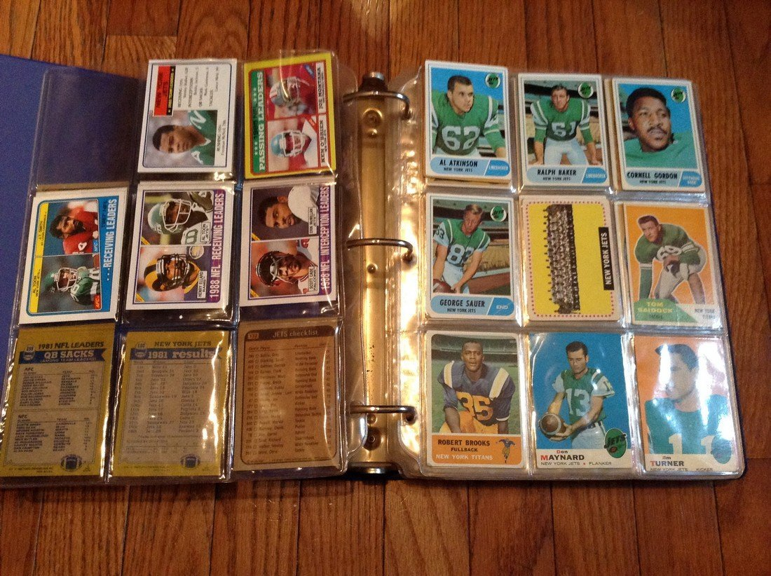 vintage football cards in binder - 2