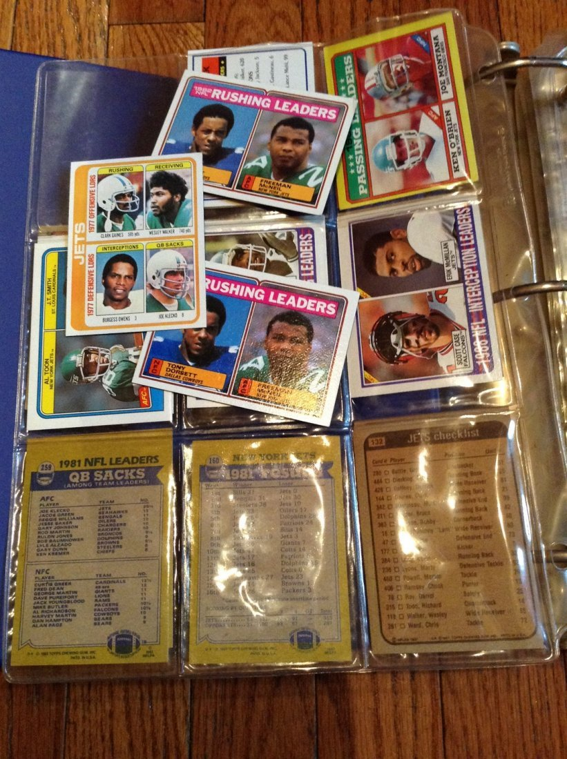 vintage football cards in binder - 3