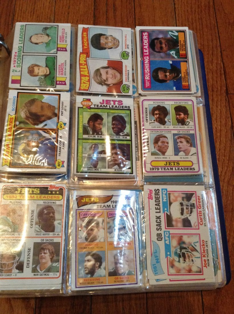 vintage football cards in binder - 4