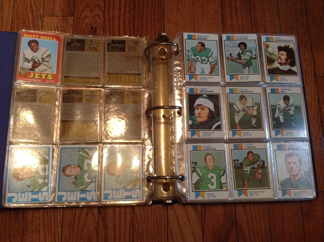 vintage football cards in binder - 5