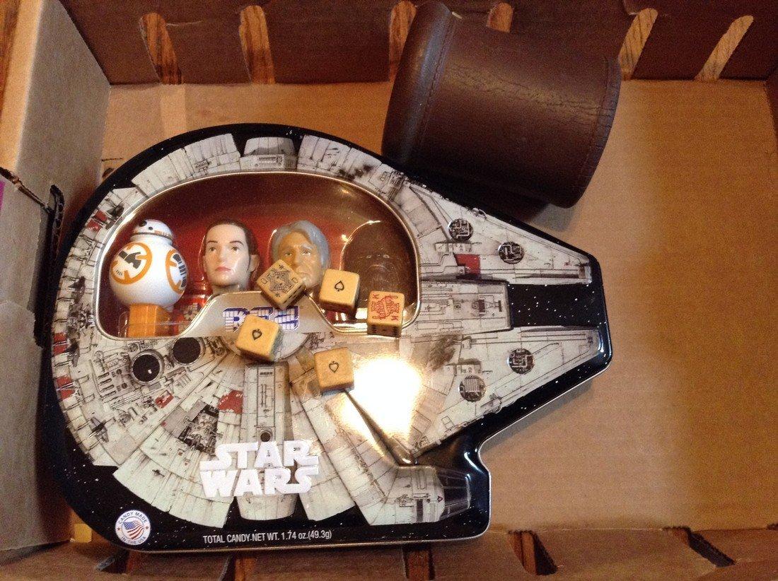 vintage bone dice & Star Wars Pez dispenser