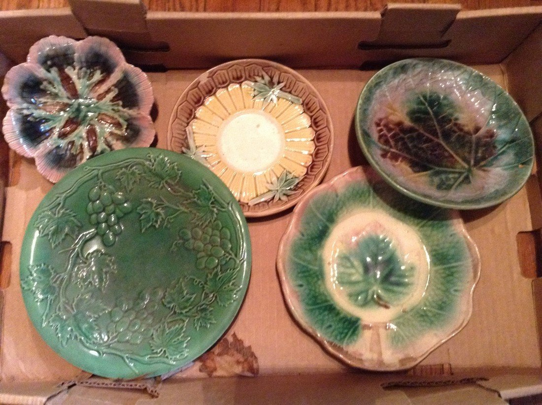 Majolica assortment of plates