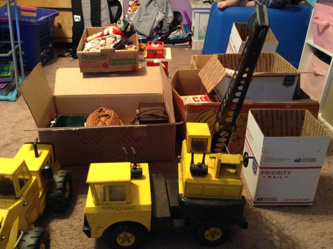 Vintage Tonka mighty crane and pay loader