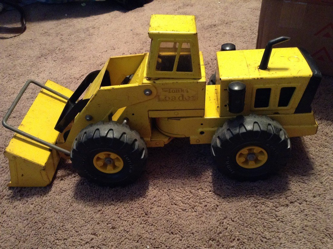 Vintage Tonka mighty crane and pay loader - 2