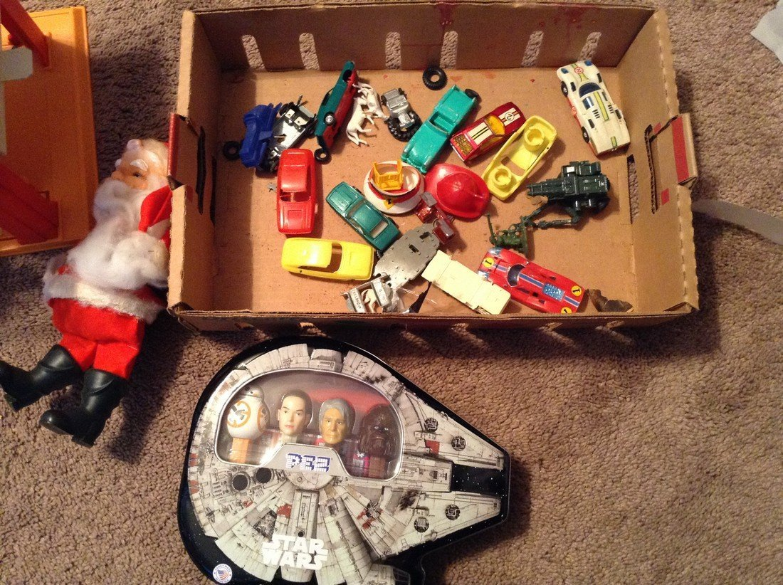 Red Line Hot wheels, matchbox and Pez and vintage Santa