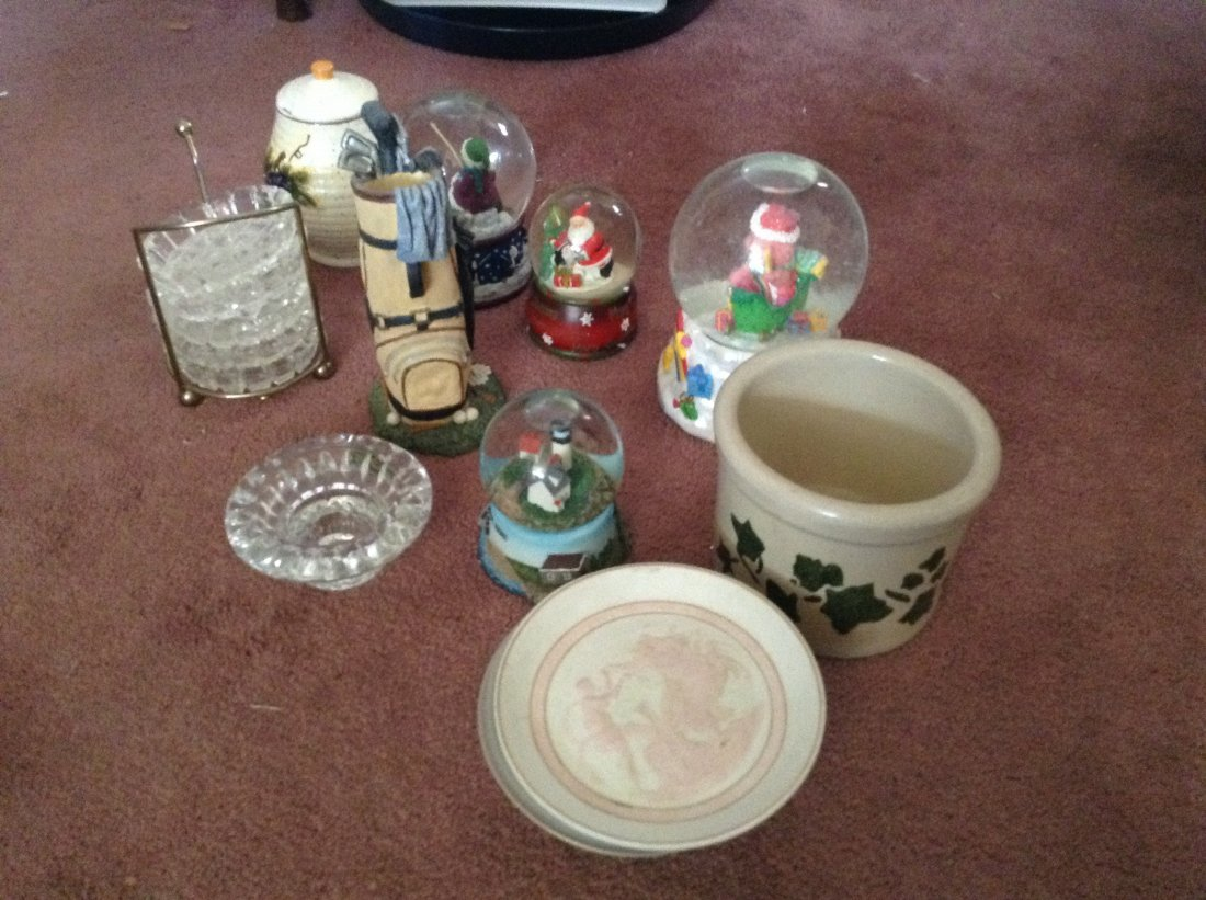 Snow Globes and Misc Glass