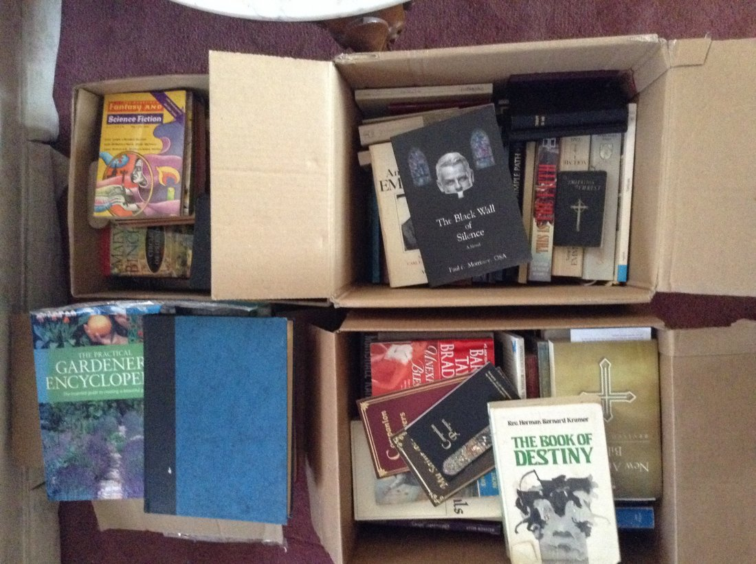 4 Boxes of Books Both Hardcover and paperback