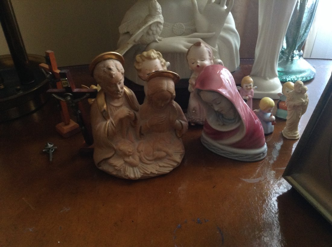 Vintage Religious Statues and Angels