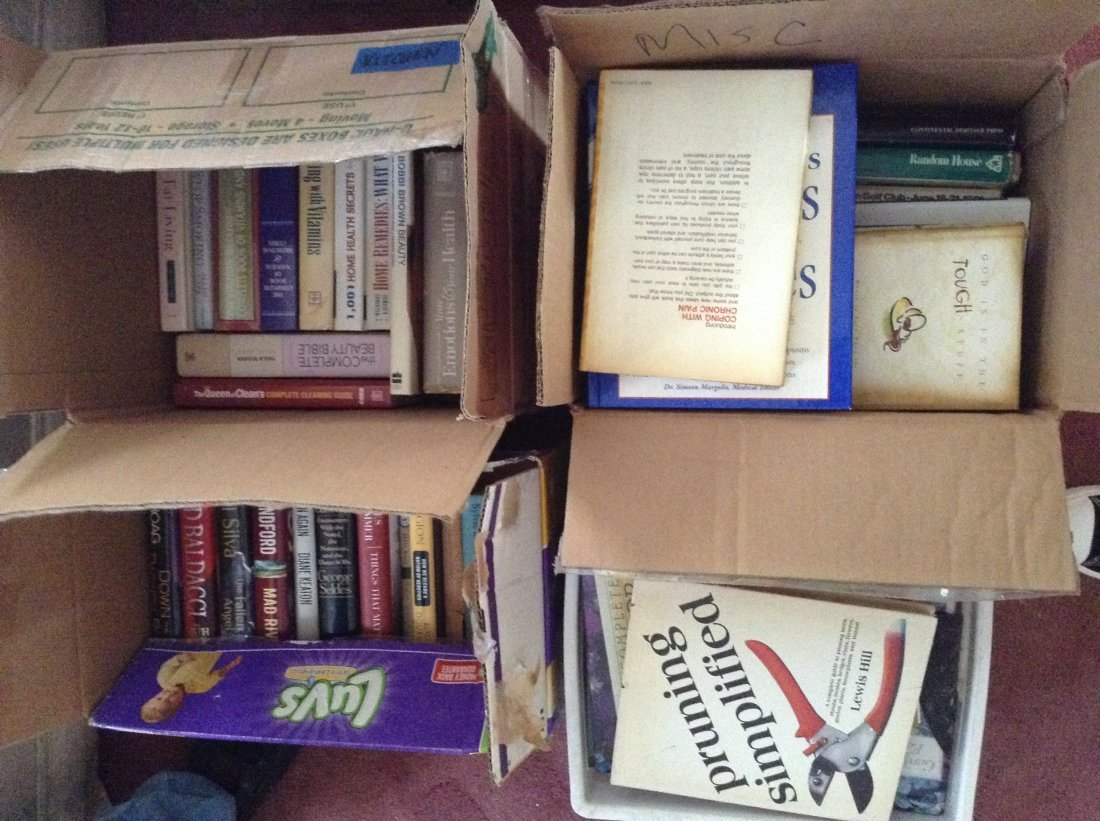 4 Boxes of Hardcover books