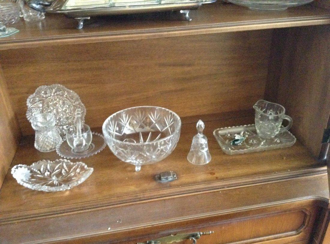 3 shelves including Crystal stemwares; serving platters - 5