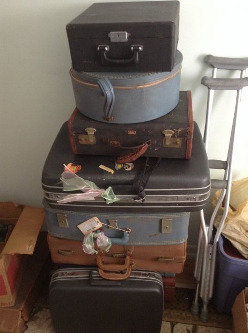 Lot of 9 Vintage Suitcases