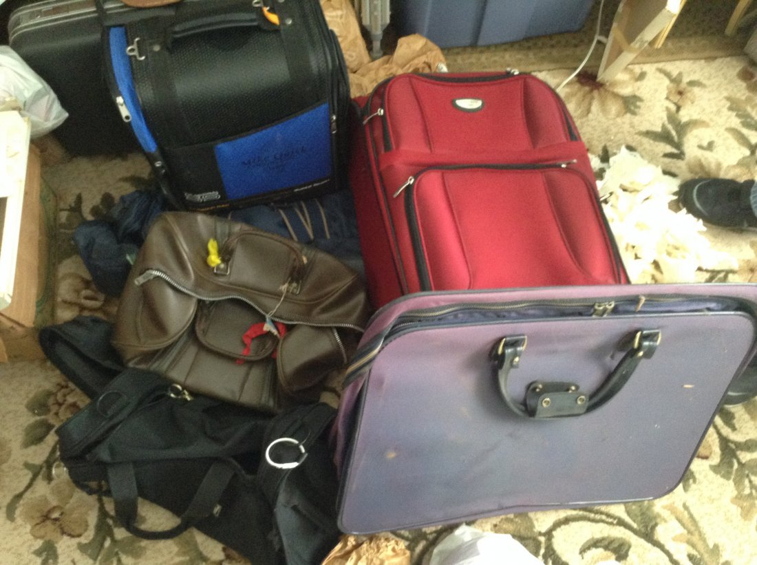 Lot of assorted Vintage bags and suitcases