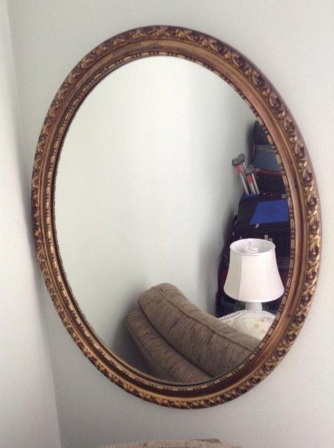Framed wall hanging mirror