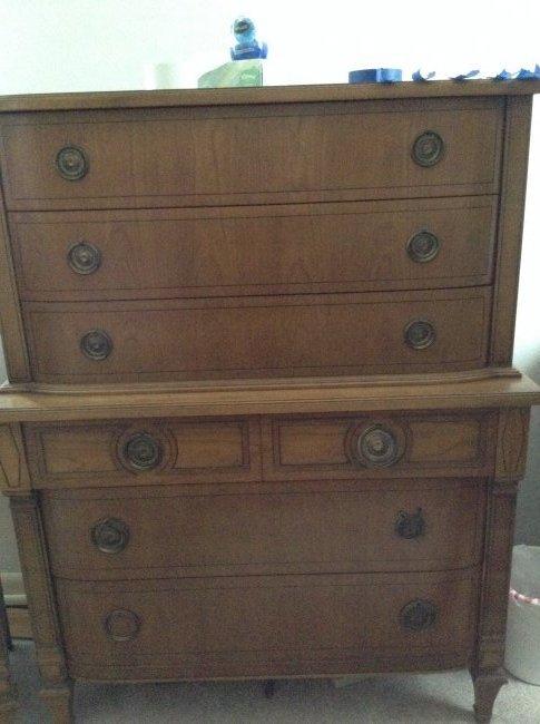 Mid-Century Tall Dresser