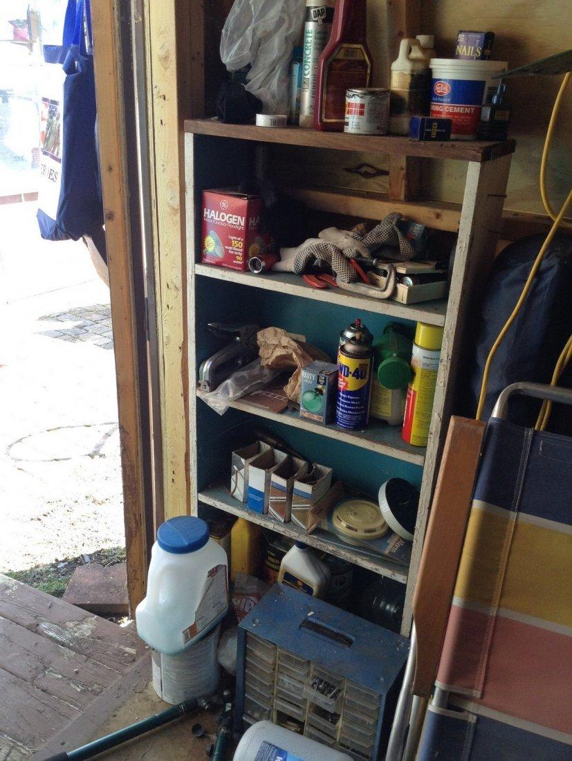 Left shelving corner of Shed